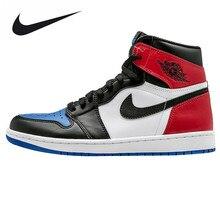 Nike Air Jordan 1 OG Top 3 AJ1 Joe 1 Mandarin Duck Fight Men's Basketball Shoes, Original Outdoor Shock-absorbing Sneakers