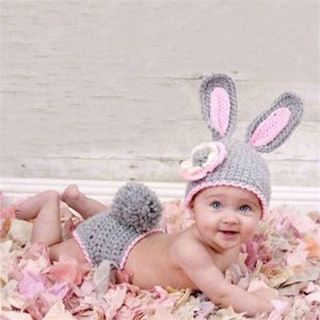Newborn Baby Boy Hüte Stricken Häkeln Minnie Kleidung Foto Prop
