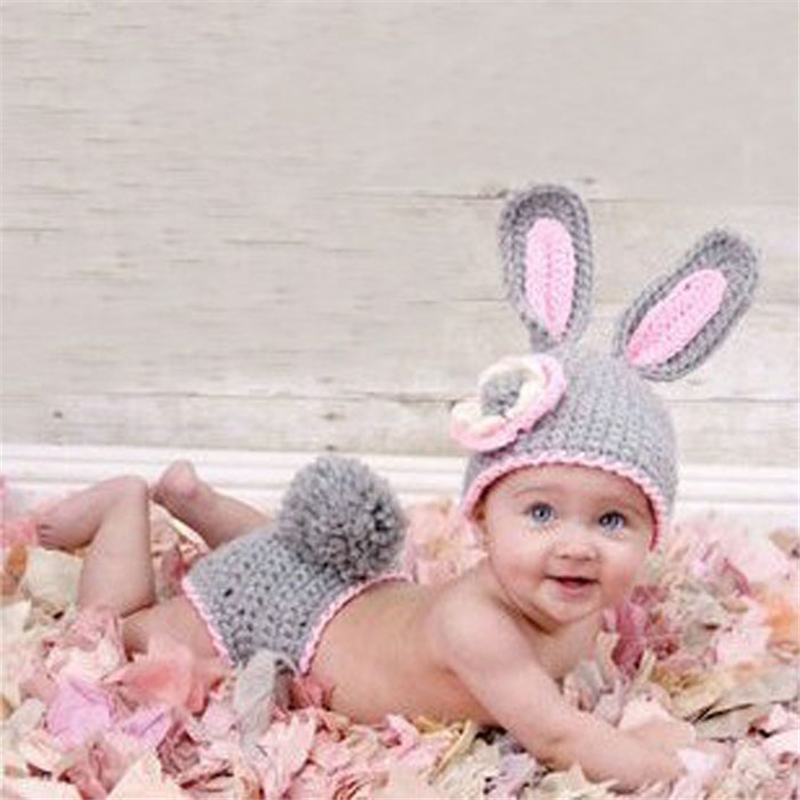Fashion Unisex Casual Solid Cute Newborn Baby Girl Boy Crochet Knit Costume Photo Photography Prop Hats Outfits Men's Hats Men's Visors