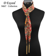 2017 Factory direct Fashion Chiffon Warm Scarves Exquisite China-chic Fringe Pendant Tassel scarf Necklace For Women Winter's