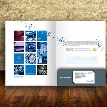 Cutom Business Folder Printing With Your Logo And Information