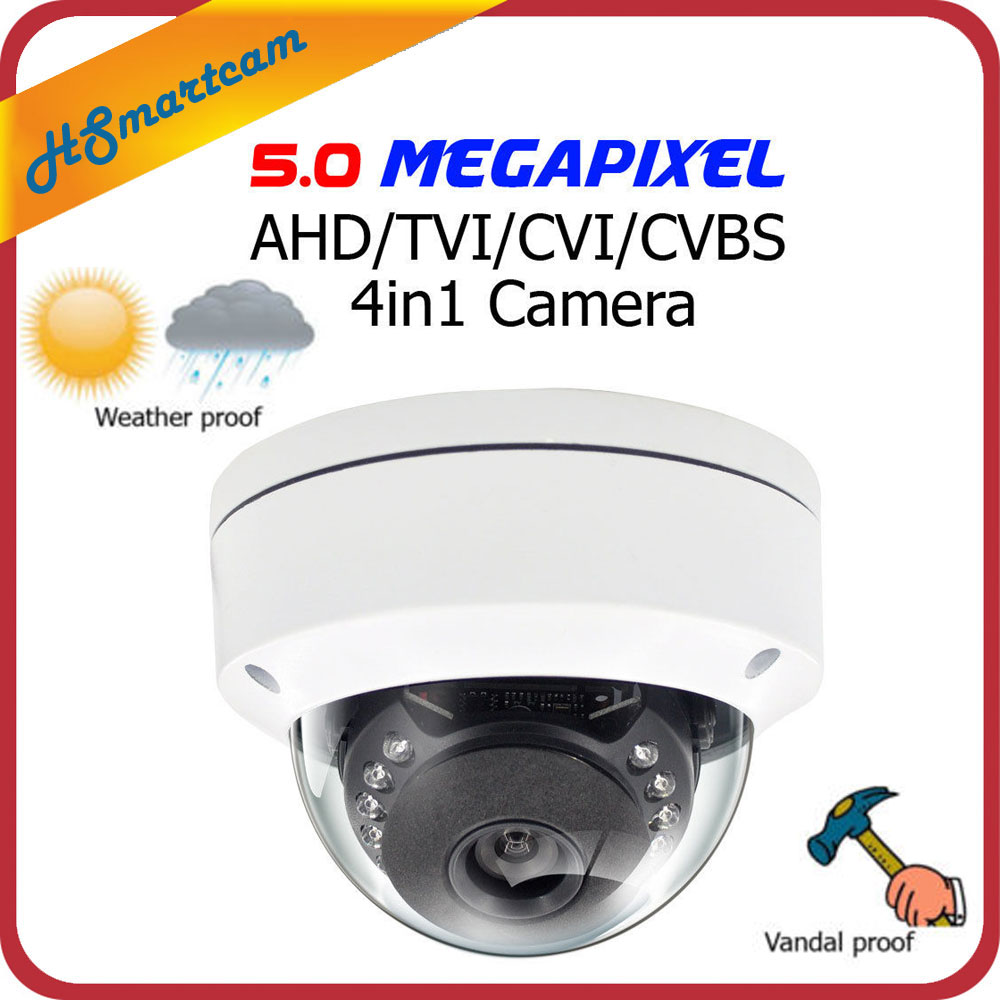 Mini AHD 4.0MP Dome Camera Vandalproof Night Vision CCTV security 5.0MP AHD/TVI/CVI/CVBS 4 in 1 D/N HD 15pcs IR Outdoor Cameras 4 in 1 ahd camera 720p 1080p hd cctv dome cvi tvi camera cvbs night vision cmos 2000tvl hybrid camera security osd menu switch