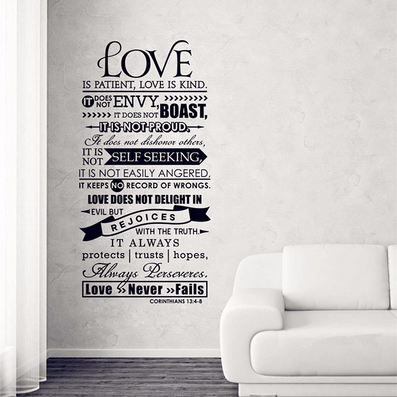 compare prices on scripture wall stickers online shopping christian wall decal scripture sticker vinyl wordstrust in