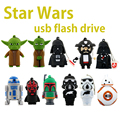 Star Wars R2D2 BB8 Robô Pen Drive 8 GB 16 GB 32 GB 64 GB mestre Yoda Pendriver Flash Disk Real Capacidade Flash USB Darth Vader unidade