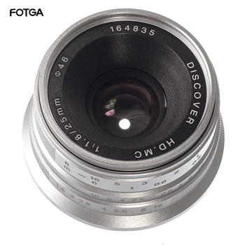 25mm F/1.8 Prime Lens Manual Focus MF For Sony E-mount A6500 A6300 NEX-3 NEX-3N/3R/C3/F3K A7 A7II A7R A7RII A7S Silver Black