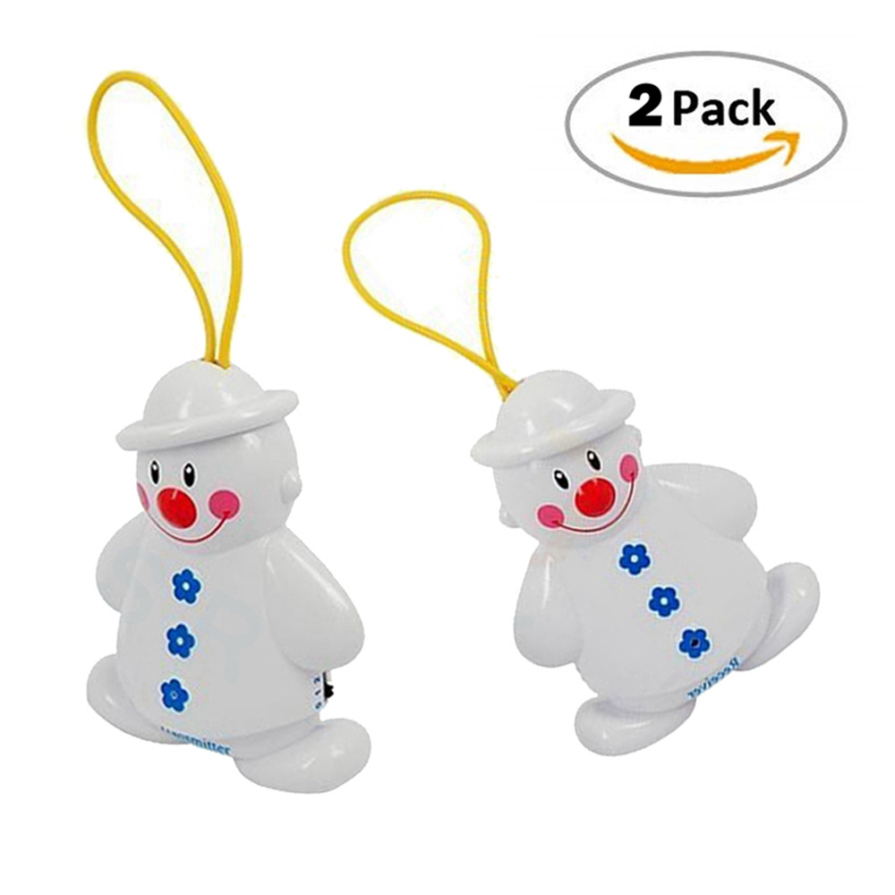 2pcs/set Portable Baby Cry Reminder Wireless Baby Crying Alarm Monitor Snowman Newborn Infant Cry Detector Baby Safety Accessory