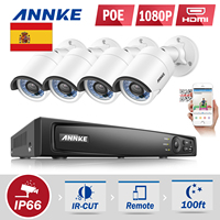 ANNKE 4CH PoE NVR CCTV System 4pcs 1 3MP Ip Camera Video Security Surveillance System PoE