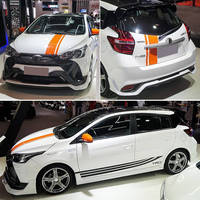 For Toyota YARiS L to dazzle car stickers pull flowers Vios FS body decoration modified car stickers foil color stickers