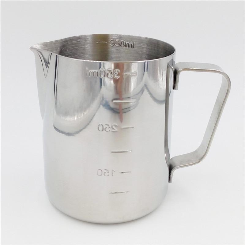 პრაქტიკული უჟანგავი ფოლადი ესპრესო ყავის ქვევრი Barista 350ml / 600ml სამზარეულოს ხელნაკეთობათა სასწორი ყავა ლატე რძე