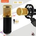 ZEEPIN BM 800 Dynamic Sound Studio de Gravação Microfone Condensador Com Fio com o Choque de Montagem para Kit De Gravação KTV Karaoke
