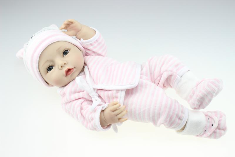 Doll Baby D157 40CM 16inch NPK Doll Bebe Reborn Dolls Girl Lifelike Silicone Reborn Doll Fashion Boy Newborn Reborn Babies