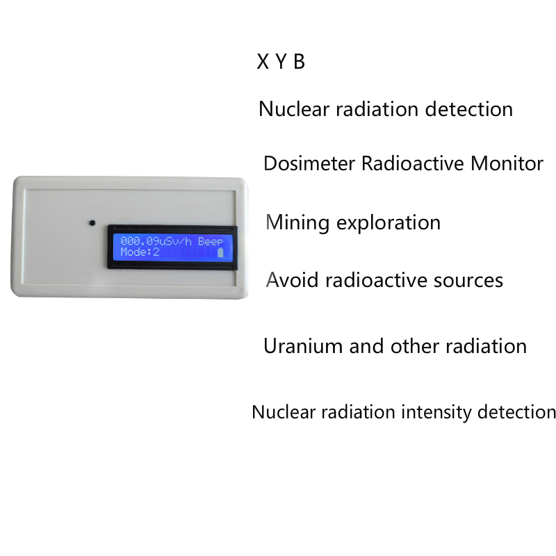 Dosimeter Radioactive Monitor Geiger Counter Nuclear Radiation Detector Professional Beta Gamma X-ray Y-ray B-ray Tube Marble handheld geiger counter marble tile radiation detector individual dose nuclear radiation geiger detecting a b x rays
