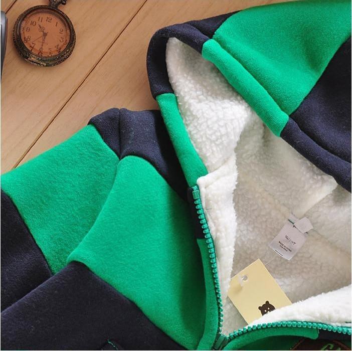 7d1cc2abe Boys Girls Children Hoodies Winter Wool Sherpa Baby Sports Suit New ...