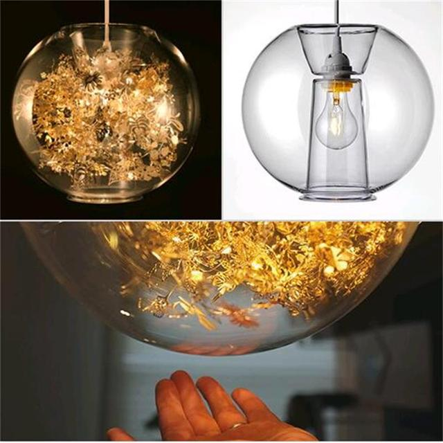Nordic Art Bar Restaurant Creative modern personality living room lamp E27 LED  Bulb pendant light glass shade,AC 110V 220V 240V