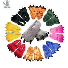 HKSNG/распродажа; недорогие теплые фланелевые домашние тапочки с рисунком жирафа, коровы, тигра; домашняя обувь с лапами; рождественские пижамы; лучший подарок