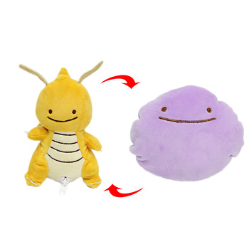 10 pcs/lot 15CM Anime Dragonite Plush Doll Ditto Figure Kairyu soft Stuffed Plush Toy Double sided pillow For Gifts