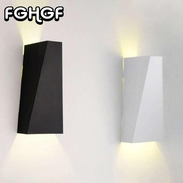 Fghgf Modernes Appliques Murales Led Up Down Led Mur Lampe Cube Interieur Exterieur Applique Murale Lampe Mobilier Cob 10 W 110 V 240 V 30 40 Degres