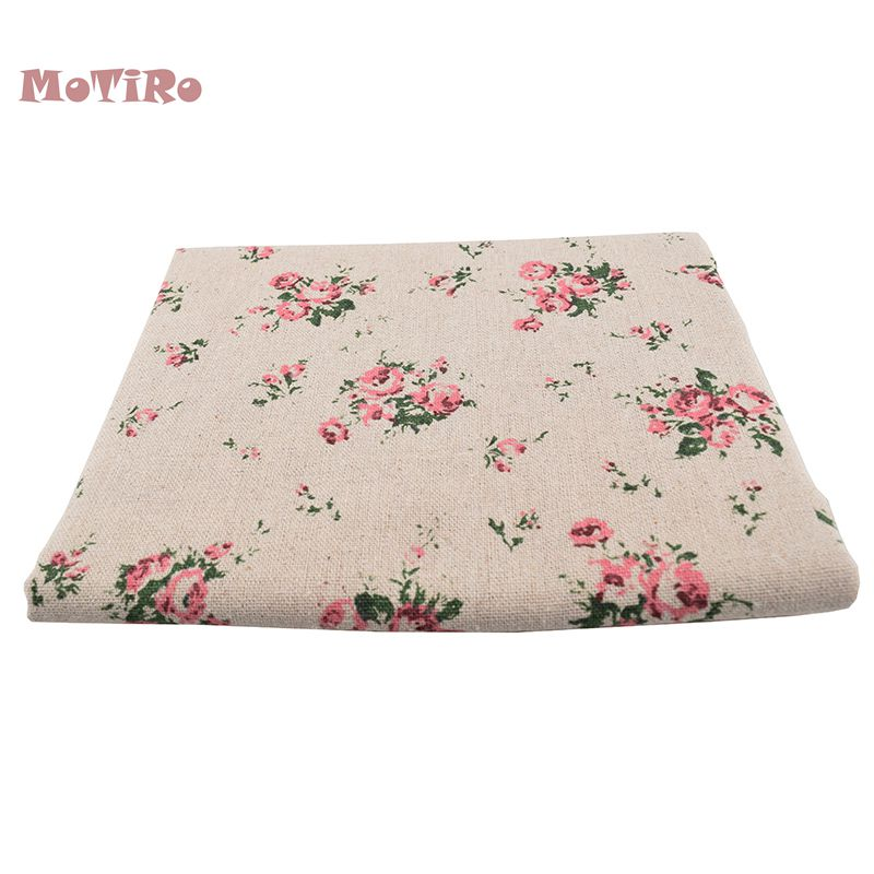 Arts,crafts & Sewing Initiative Motiro,printed Cotton Linen Of Meter Fabric,floral Little Series Cloth Quilting/sewing/sofa/table/curtain/cushion/tissue/cover Good Companions For Children As Well As Adults Fabric