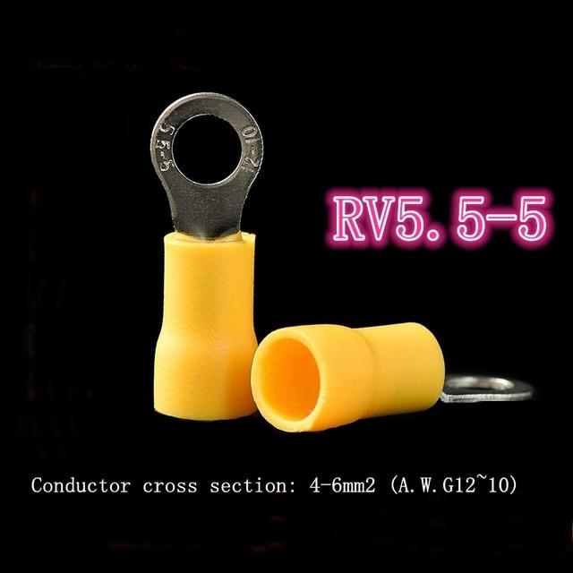RV5.5-5 pre-isolato terminale pressato a freddo terminale blocco O-a forma di rotonda naso di rame giallo yuewei nan's store