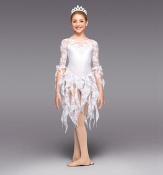 New white princess Ballet Dress  lyrical Bailarina Balet   party performance dancing dress