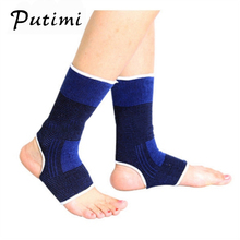 PUTIMI Sports Ankle Protector Socks Ankle Foot Elastic Compression Sleeve Bandag