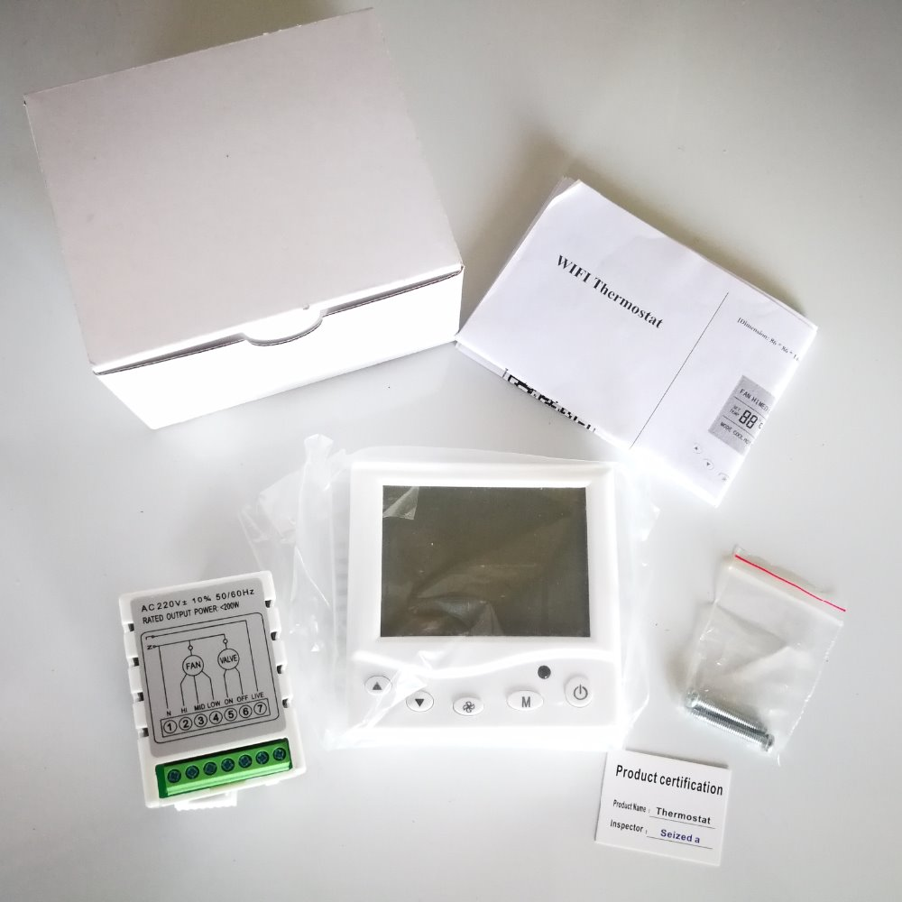 Wireless Thermostat For Central Air Honeywell Conditioner Wiring Diagram Wifi Fan Coil Fcu Room