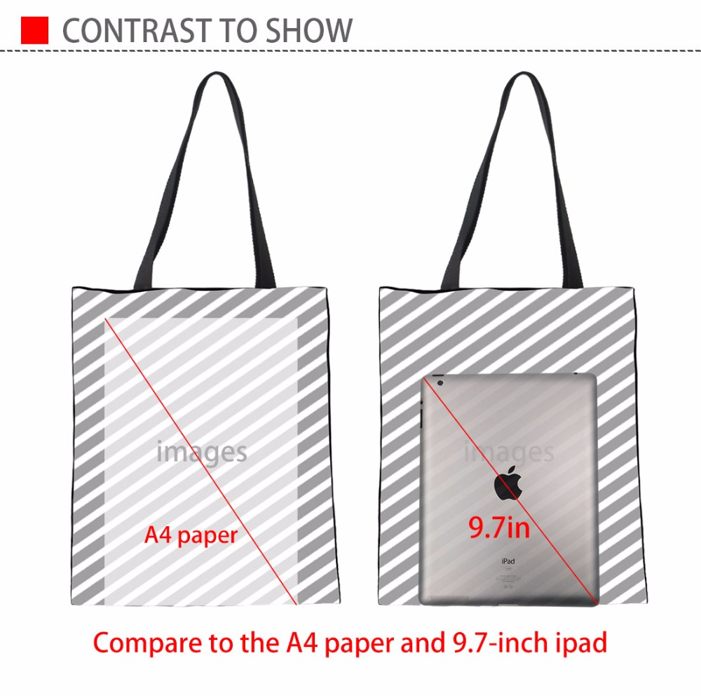 Coloranimal Yorkshire Terrier Flower Print Fashion Designer Women Canvas Linen Handbags Mujer Summer Beach Bags Shopping Bags