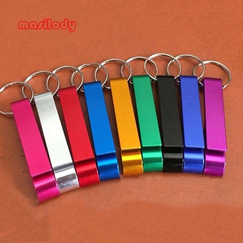 200pcs Lot Free For Laser LOGO Metal Bottle Opener Keychain Cola Opener Key Chain Beer Opener