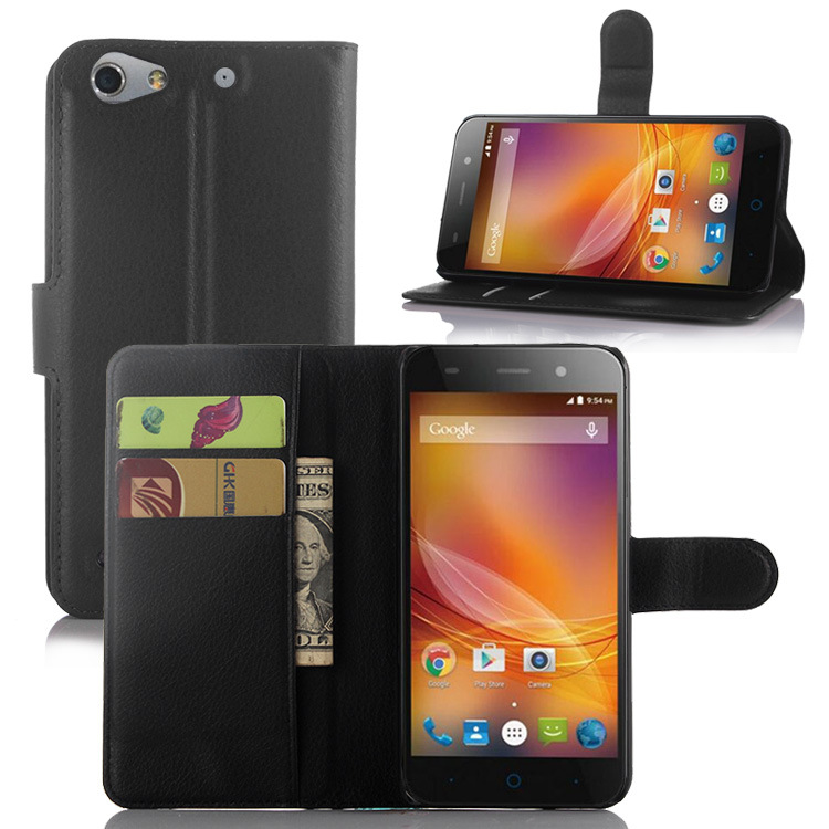 Hot High Quality Leather Case for Zte Blade L4 with Stand Function Card Slot Leather Cover for Zte Blade L4