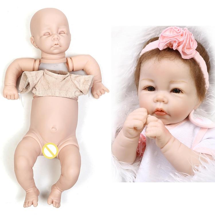 DIY 18/'/' Reborn Doll Soft Cloth Body For Simulation Doll Supplies Accessories