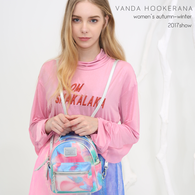 Vanda Hookerana 2017 Women Girl Mini Shoulder Bag Colorful Art Bag Blueberry Yogurt Color Backpack Female Personality Bags vanda robert s delight купить