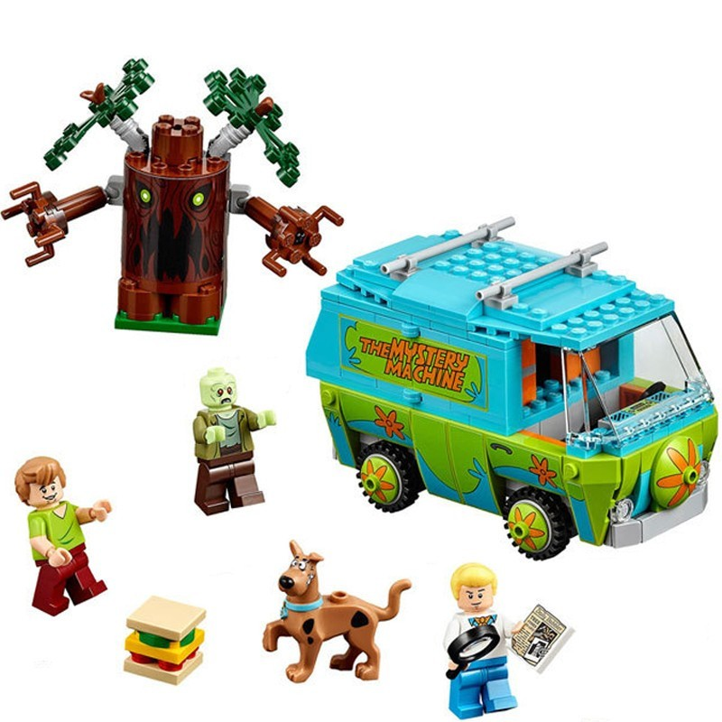 305Pcs The Mystery Machine Bus Scooby Doo Series Compatible Legoings 75902 Bricks Building Blocks Toys for children Gift