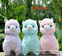 Большой размеры 45 см японский Alpacasso мягкие игрушечные лошадки Куклы Kawaii овец плюшевая игрушечная Альпака гигантские мягкие животные игрушк...