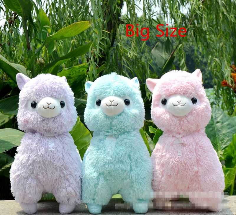 Tamaño grande 45 cm japonés Alpacasso peluches muñecas Kawaii ovejas Alpaca juguetes de peluche gigante animales de peluche niños juguetes de Navidad regalos