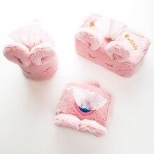 Автомобильный держатель tissue box boite a mouchor papel higienico divertido porta guardanapo Милая туалетная бумага Япония стиль плюшевые съемные