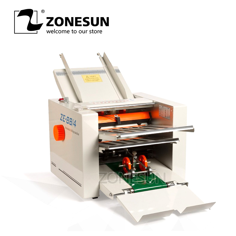 ZONEUN Pamphlet Brochure Folding Machinery Flanging Automatic Paper Booklet Manual Leaflet Catalogue Folding Machinery
