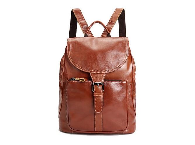 Echtes Leder Rucksäcke Taschen für Frauen Schultasche Reisetasche - Rucksäcke
