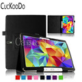 CucKooDo Slim Folding Cover Case for Samsung Galaxy Tab S 10.5 Inch T800 Android Tablet (With Smart Cover Auto Wake / Sleep)