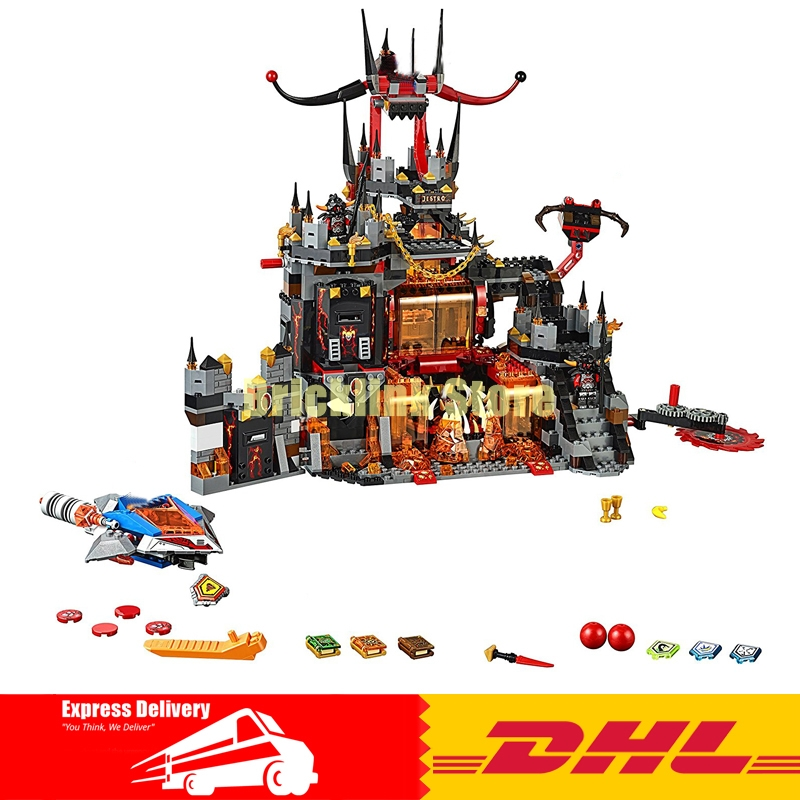 In Stock DHL LEPIN 14019 1244Pcs Nexus Knights Jestros Building Blocks Compatible 70323 Brick Toys Gifts lepin 14004 knights beast master chaos chariot building bricks blocks set kids toys compatible 70314 nexus knights 334pcs set