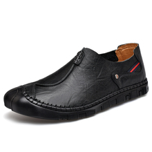 Men's Casual Shoes Loafers Mens Shoes Quality Handmade Leather Shoes Man Flats Moccasins Comfortable Big size 38-46