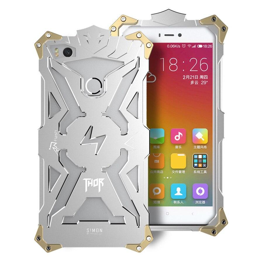 imágenes para Simon diseño metal armor thor ironman de aluminio cajas del teléfono para xiaomi redmi note 3 1 2 mi3 mi4 mi4s mi4i mi4c vivienda cubierta