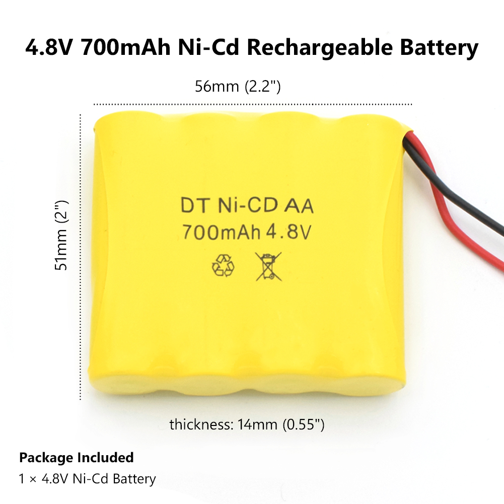 1 2 4 8PCS 4 8 V 700mAh NI CD Remote Control Toys Electric toy security facilities electric toy AA battery battery group in Rechargeable Batteries from Consumer Electronics