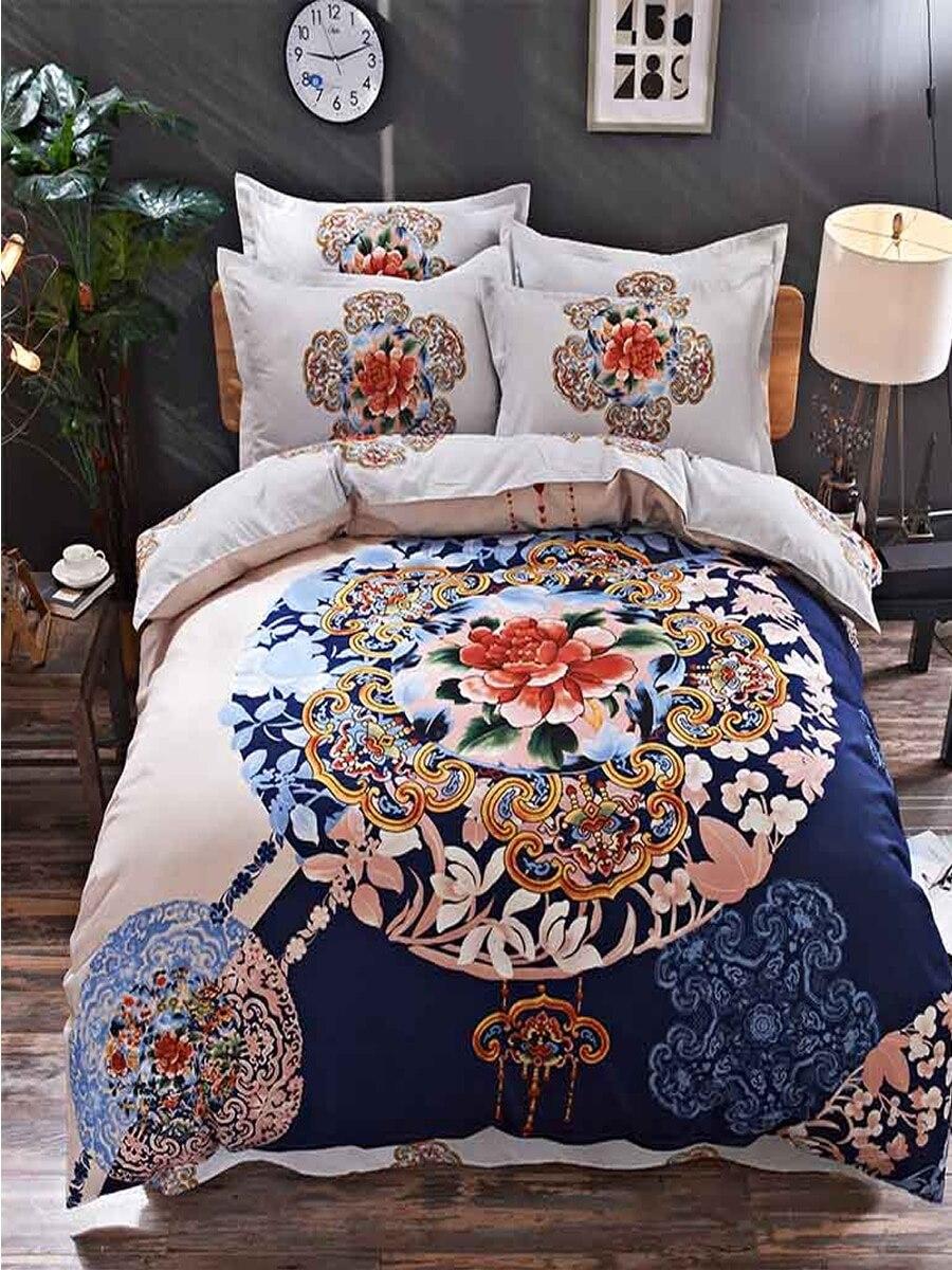 4 Pcs Bedclothes Set Modern Fashion Floral Soft Bed Sheet Set 4 Pcs Bedclothes Set Modern Fashion Floral Soft Bed Sheet Set