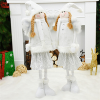 Christmas Decorations Xmas Toy Christmas Decorations For Home White Xmas Angel Desk Windown Ornaments Christmas Tree Decorations