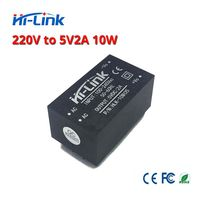 Free shipping 5pcs 220v 5V/ 10W 2A AC DC isolated switching step down power supply module AC DC converter HLK 10M05