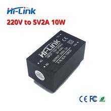 Frete grátis pcs 220 v 5 5 V/10 W 2A AC DC isolado comutação step down fonte de alimentação AC DC conversor módulo HLK 10M05