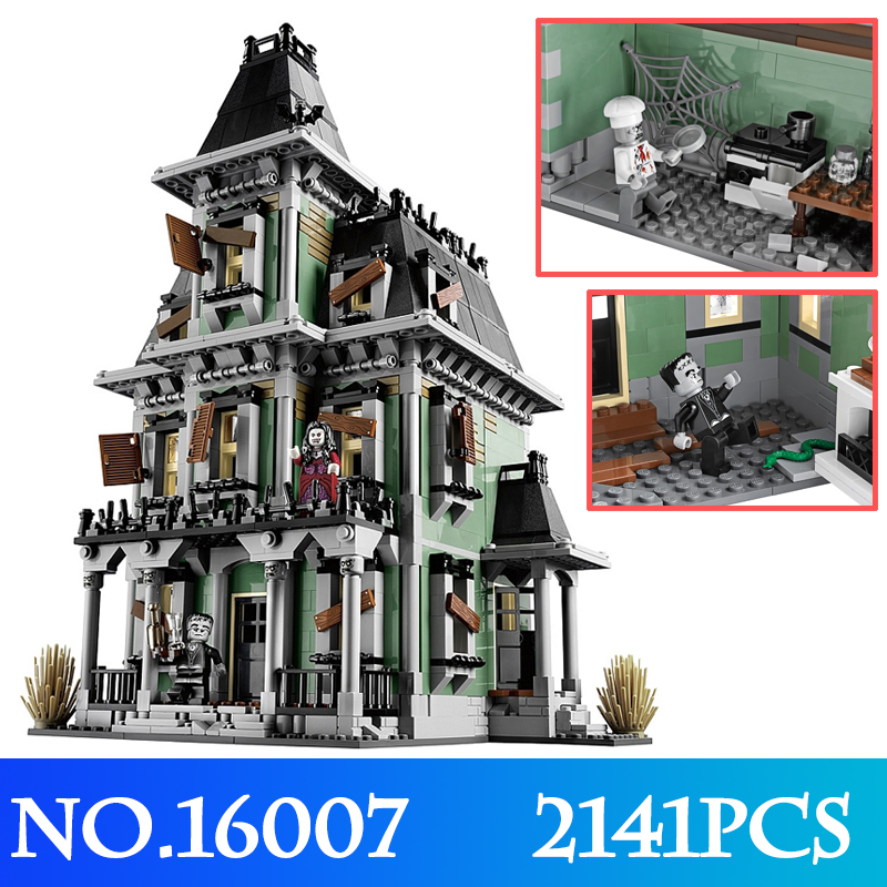 New 16007 2141Pcs Monster Fighter The Haunted House Model set Building Blocks Model kits LegoINGly Toys Christmas Gifts For Kids 2141pcs the haunted house model set building kits block toy 16007 diy monster fighter educational blocks toys for children