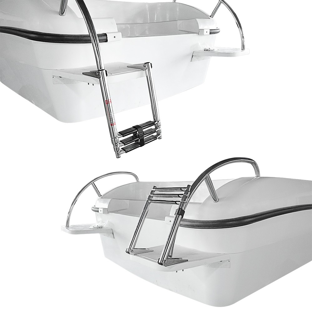 Image 5 - 3 Step Stainless Steel Telescoping Marine Boat Ladder Swim Step Over Platform-in Marine Hardware from Automobiles & Motorcycles