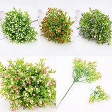 DIY 1 ud. Flores sintéticas para boda populares suministros festivos decoración del hogar decoración de fiesta Milán flor Artificial de alta calidad