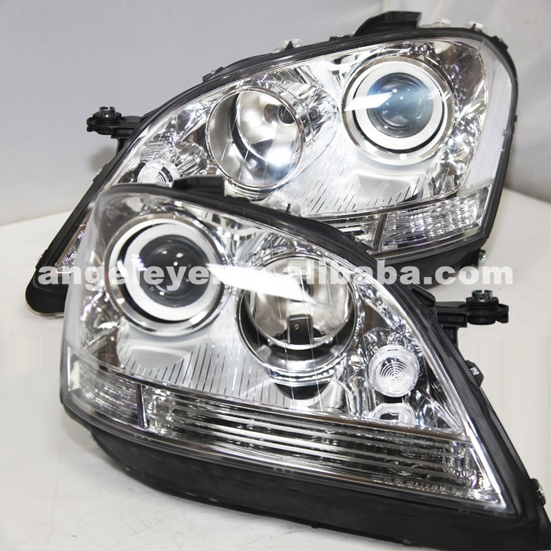 Pour BMW pour W164 ML280 ML320 ML350 2005-2008 an lampe frontale boîtier en argent TYC